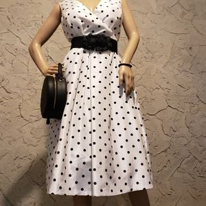 Evan Picone Dresses - Polka dot Dress, necklace, belt